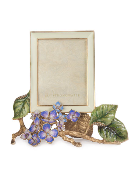 """Jay Strongwater Colbie Hydrangea Picture Frame, 3"""" x 4"""""""
