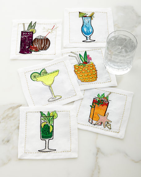 Kim Seybert Summer Drinks Cocktail Napkins, Set of