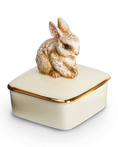 Image 1 of 2: Jay Strongwater Lia Bunny Box