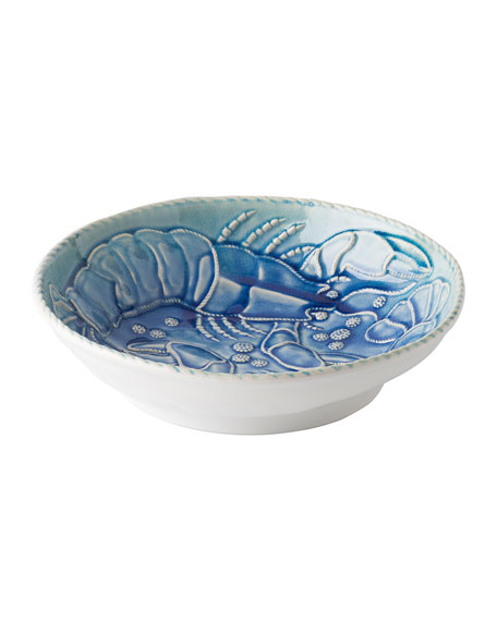 "Berry & Thread Delft Ombre Crackle ""Lobster"" Serving Bowl"