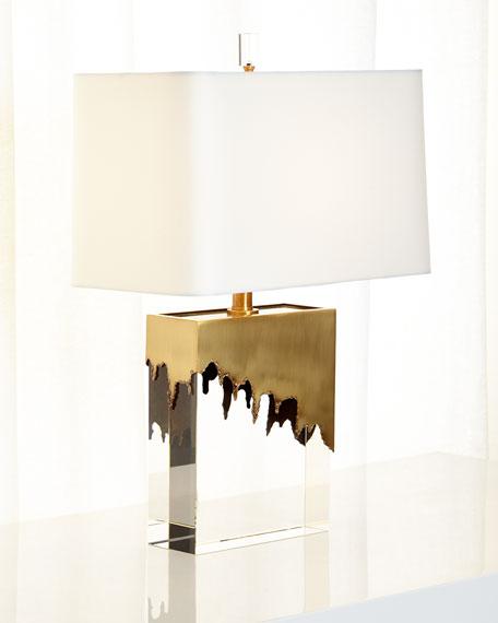 Brass & Crystal Frye Lamp
