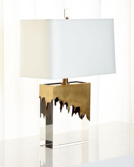 Arteriors Brass & Crystal Frye Lamp