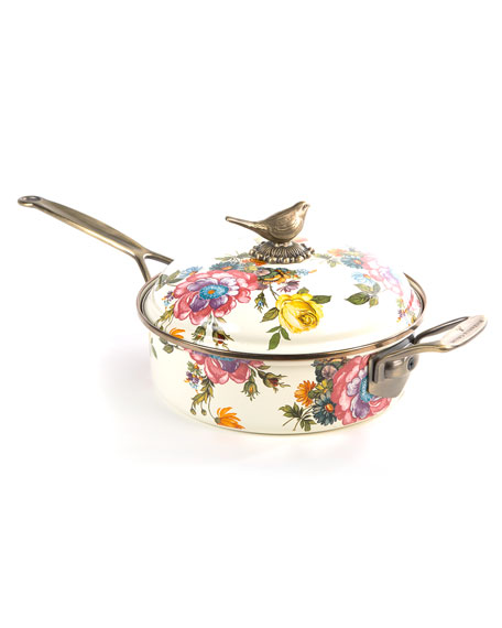 MacKenzie-Childs Flower Market 3-Quart Saute Pan