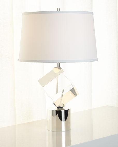 John-Richard Collection Crystal-Cube Table Lamp
