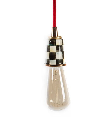 MacKenzie-Childs Red Mini Pendant Light