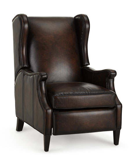 Gallatin Leather Wing Recliner