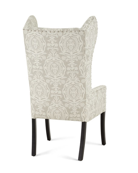 Callie Embroidered Wingback Chair