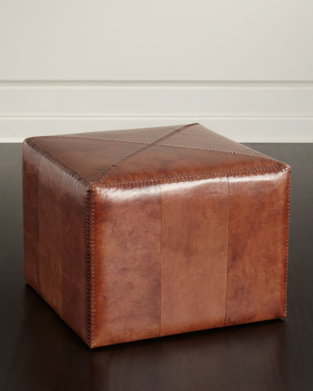 Jamie Young Boland Leather Ottoman