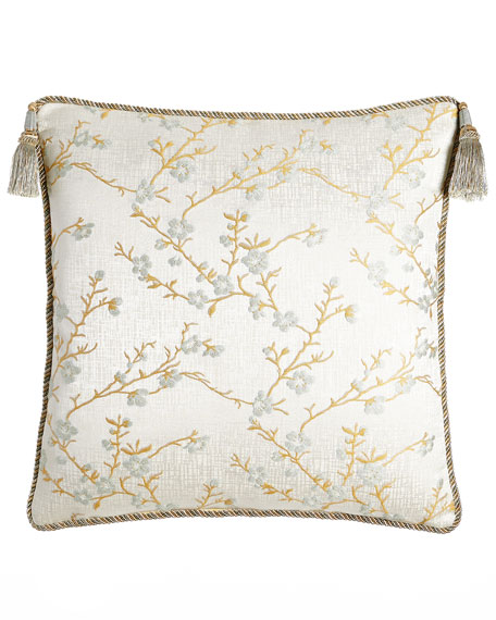 Austin Horn Collection European Blossom Sham with Tassels