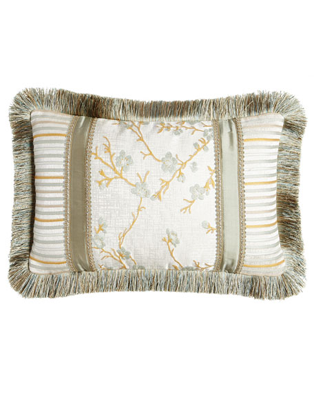 "Austin Horn Collection Blossom Boudoir Pillow, 13"" x 21"""