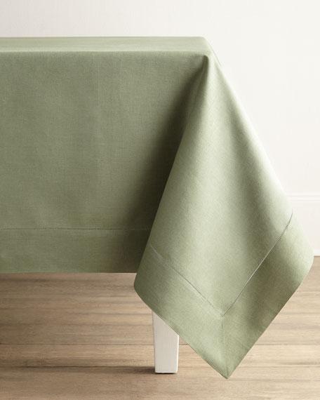 "Hemstitch Tablecloth, 66"" x 124"""