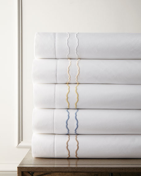 SFERRA European Embroidered Percale Sham