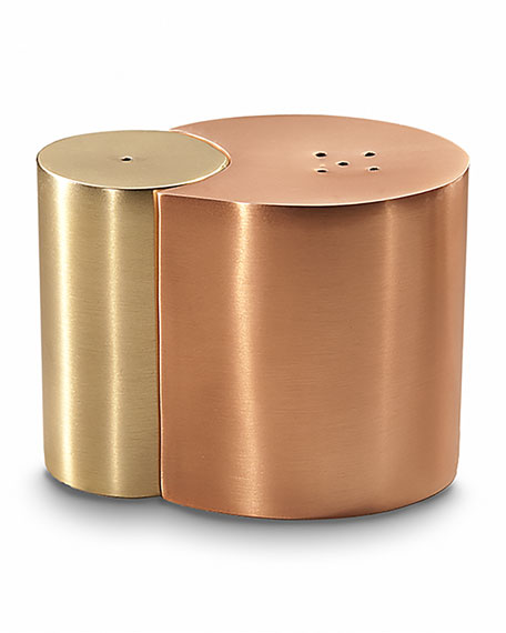 Arroyo Salt & Pepper Shakers, Brass/Copper
