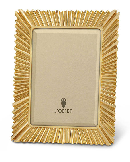 """L'Objet Gold Ray Picture Frame, 4"""" x 6"""""""