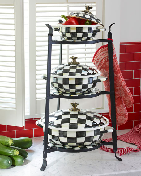 MacKenzie-Childs Courtly Check Counter Stand