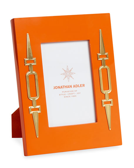Jonathan Adler Turner Lacquer Picture Frame, Orange, 4