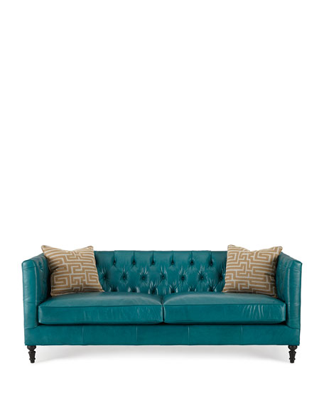 Alexandria Tufted Leather Sofa