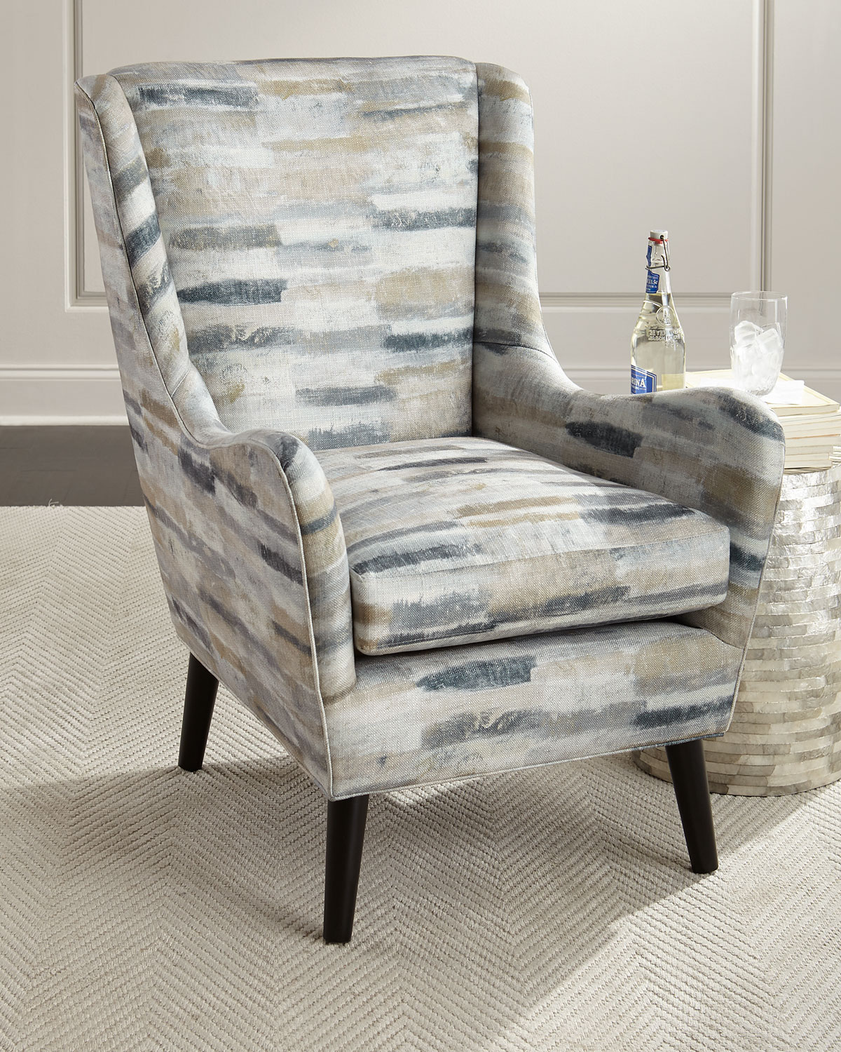 Tanna High Back Accent Chair Neiman Marcus