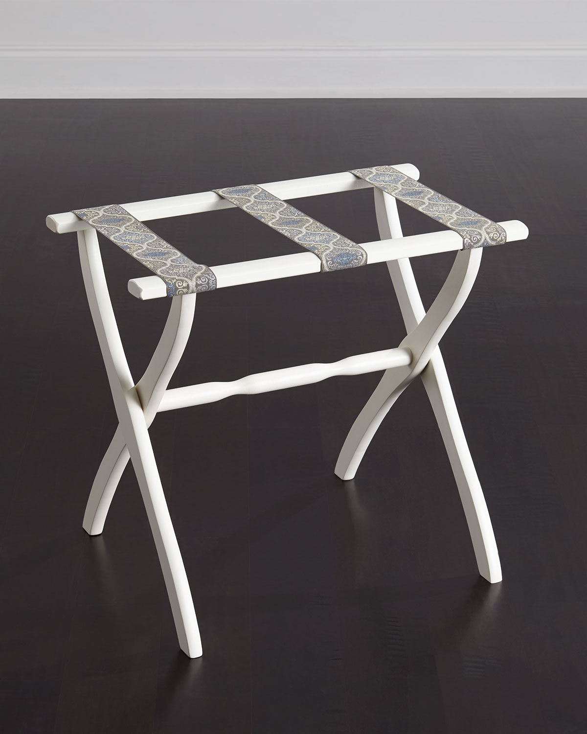Luggage Rack with Versailles Detailing, Gray
