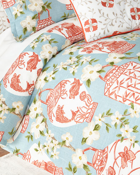 Jane Wilner Designs Queen Mikado Duvet Cover