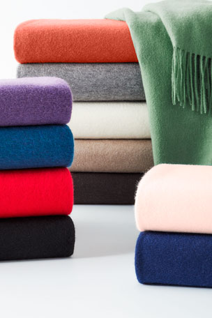 Luxury Blankets & Throws at Neiman Marcus