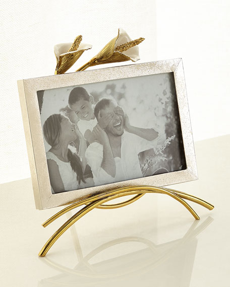 Michael Aram Calla Lily Easel Picture Frame, 4
