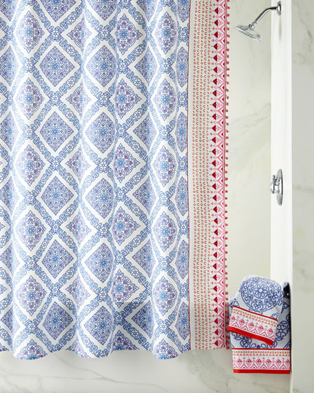 John Robshaw Mitta Periwinkle Shower Curtain