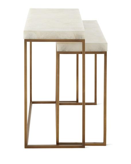 John-Richard Collection Taylor Brass Nesting Tables