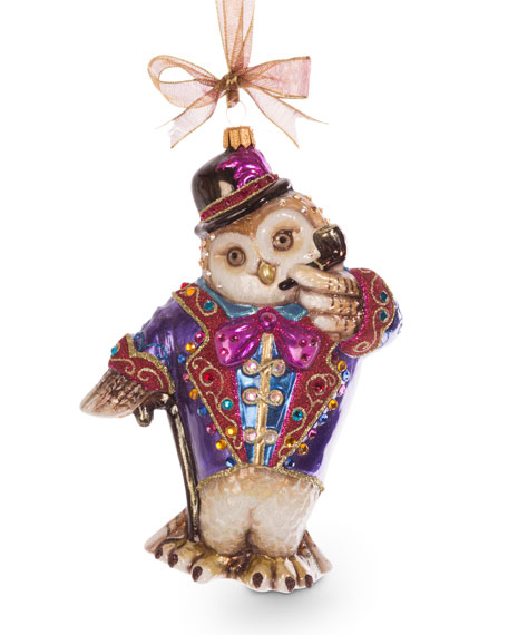 Jay Strongwater Jubilee Owl Ornament