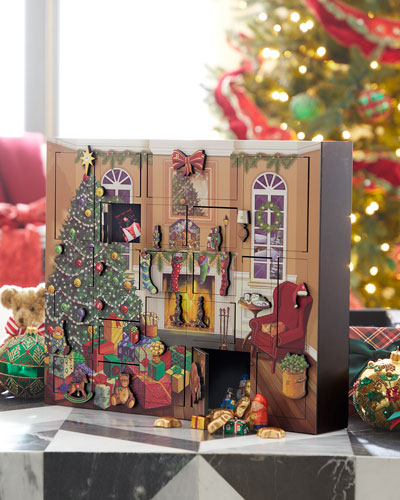 byers choice fireside advent calendar - Neiman Marcus Christmas Decor
