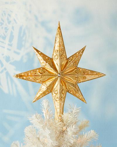Champagne Stellar Christmas Tree Topper