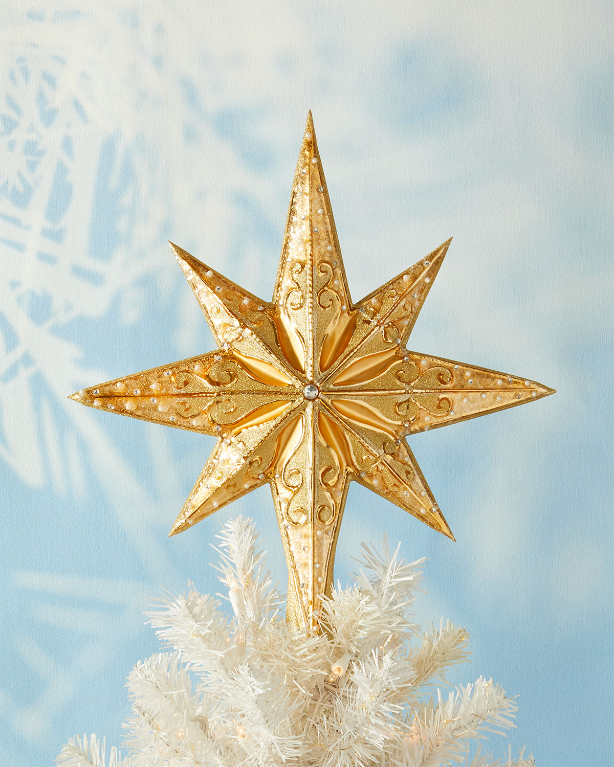 Christmas Tree Topper.Champagne Stellar Christmas Tree Topper