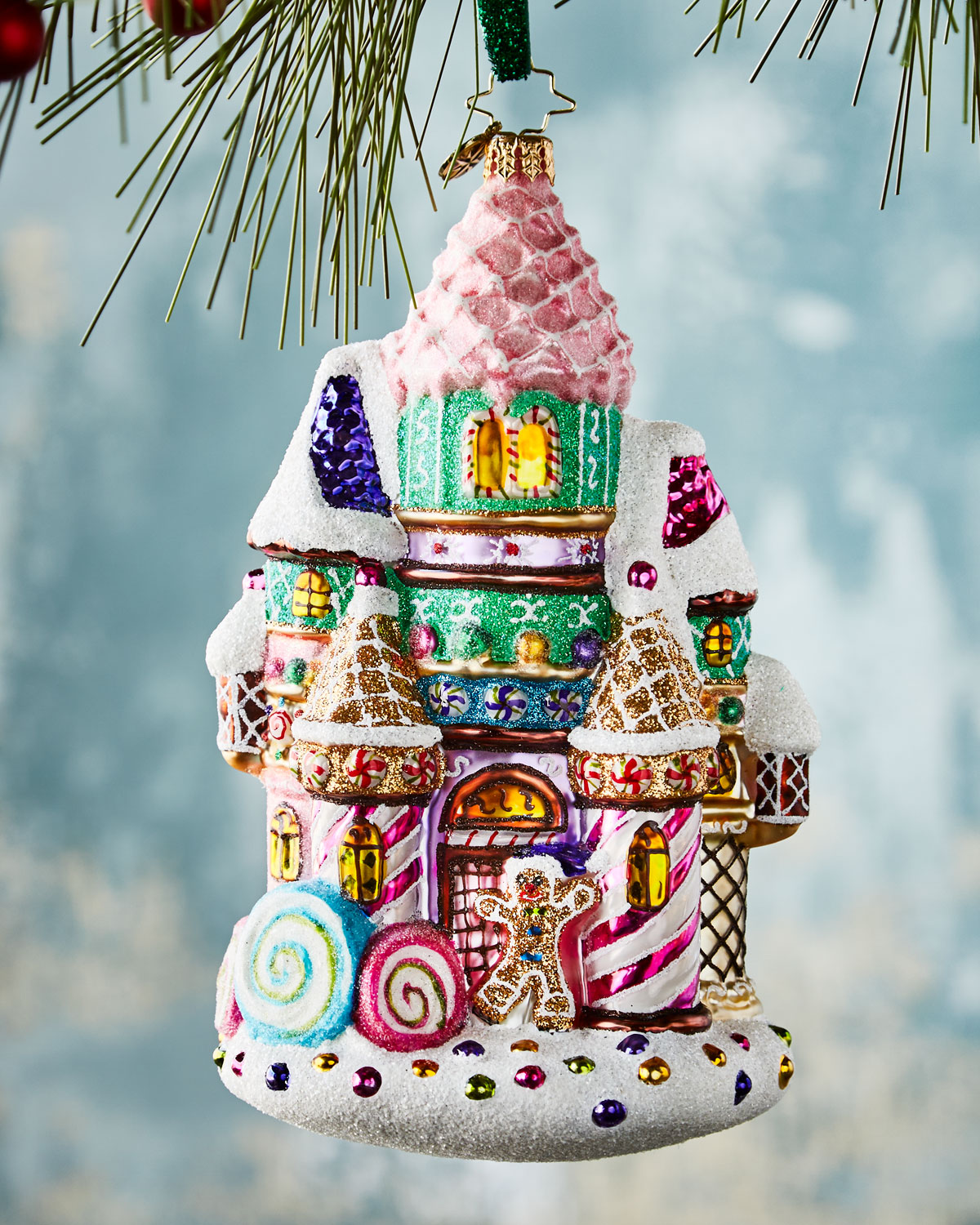 Christopher Radko Candy Castle Christmas Ornament Neiman