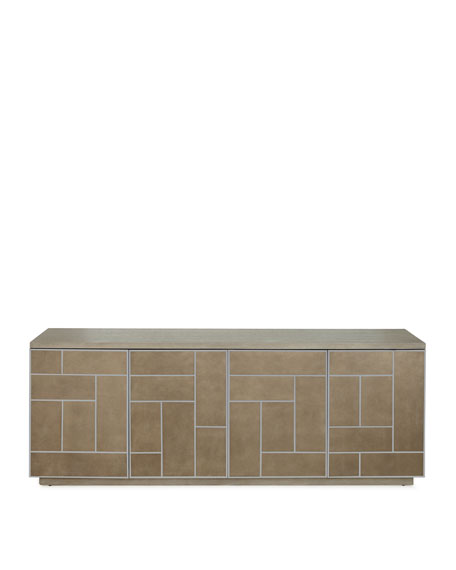 Aletha Faux-Shagreen Entertainment Console