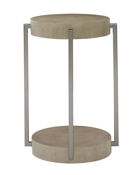 Bernhardt Aletha Stainless Steel Accent Table