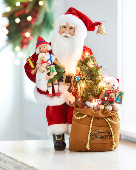 Karen Didion Originals Toys Galore Lighted Santa