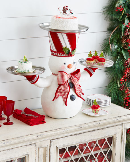 Katherine's Collection Snowman Treats Holder
