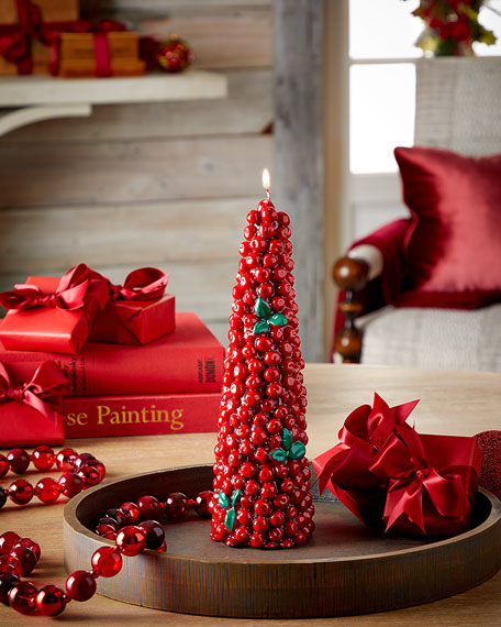 Red Berry Tree Candle, Medium