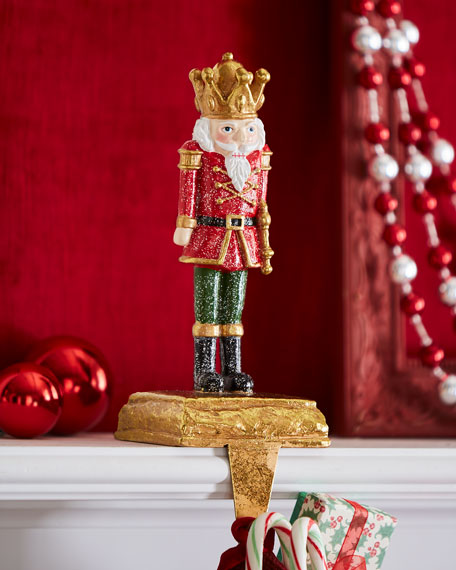 Toy Soldier Stocking Holder, Baton Up