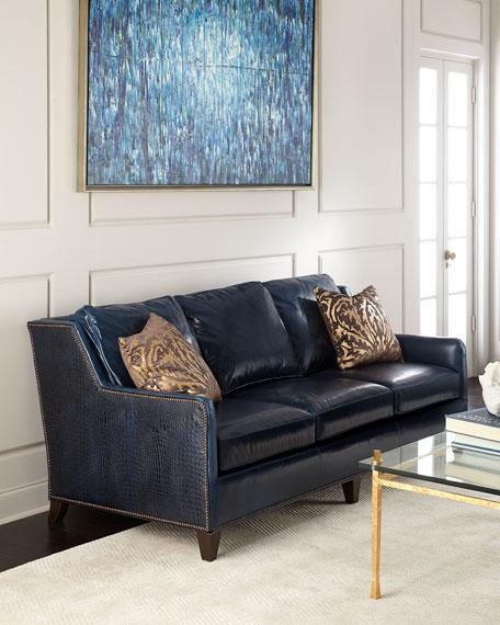 Massoud Manning Leather Sofa