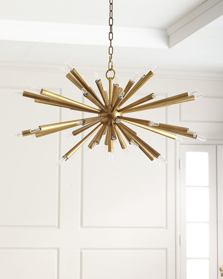 John-Richard Collection Brass Chandelier