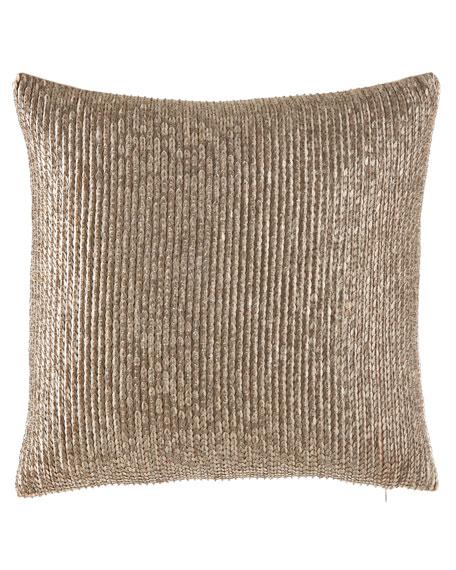 Seffina Hand-Beaded Pillow