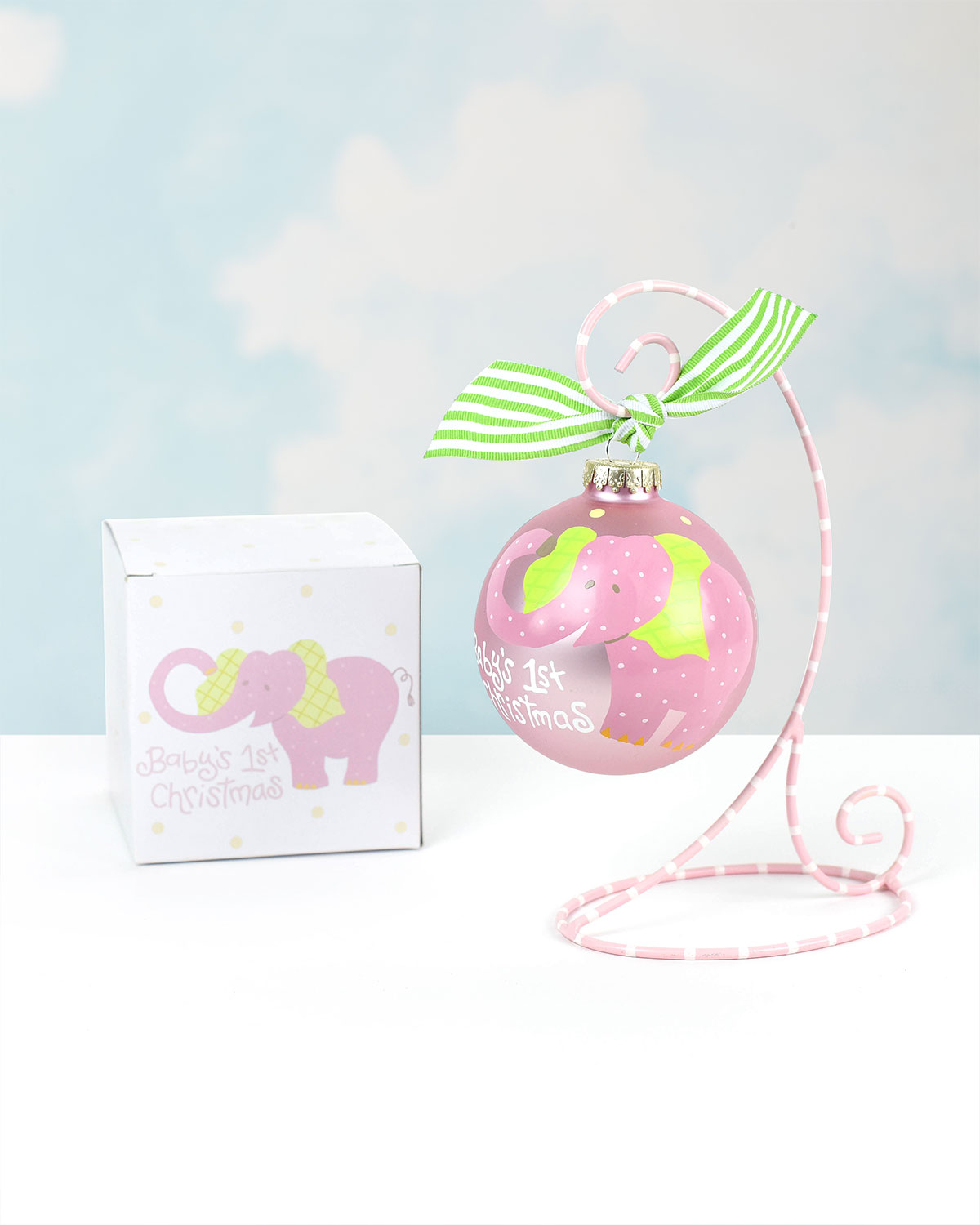 Coton Colors Babys First Christmas Elephant Ornament Girl Neiman