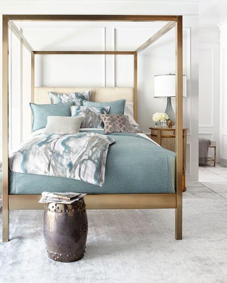 Isabella Collection by Kathy Fielder Standard Caspin Blue Sham