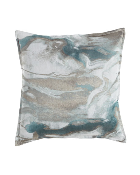 Isabella Collection by Kathy Fielder Caspin Marbled Pillow,