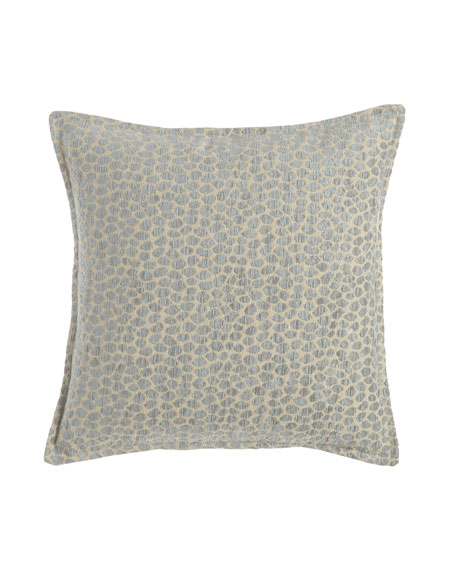 "Caspin Spotted Pillow, 20""Sq."