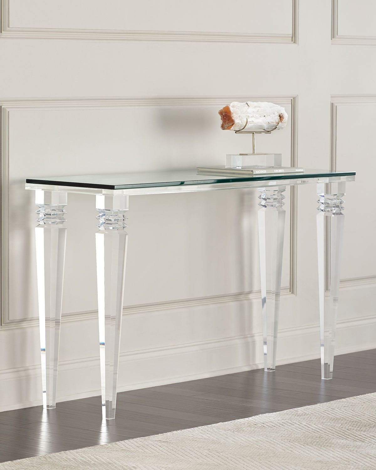 Interlude Homechristelle Acrylic Console Table