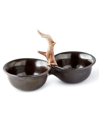 Forest Two-Bowl Server