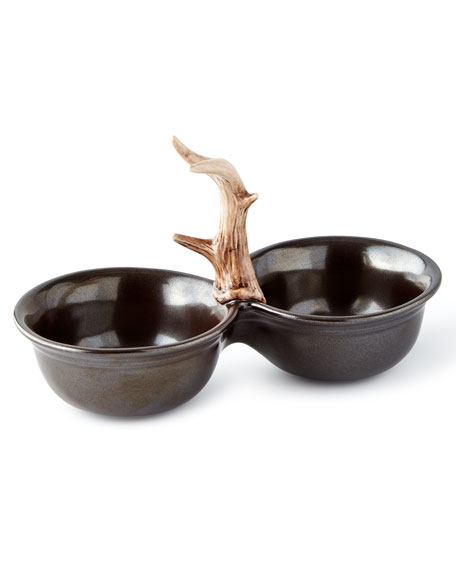 Juliska Forest Two-Bowl Server