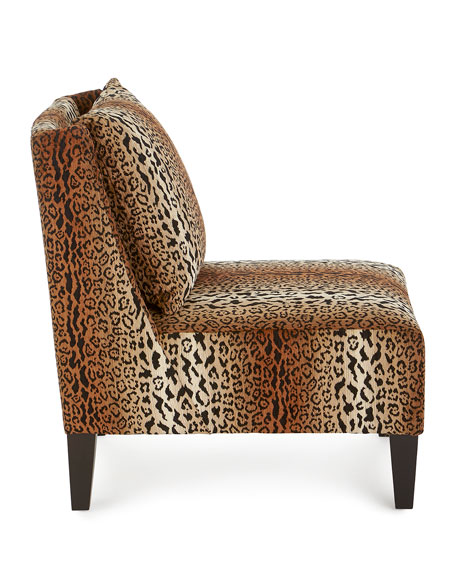 Image 3 of 5: Asher Cheetah Slipper Chair